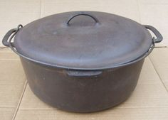 Dutch Oven - http://i.ebayimg.com/t/Vintage-Vollrath-Ware-Cast-Iron-Dutch-Oven-85-1920s-or-30s-/00/s/MTE0OFgxNjAw/z/QzQAAOxyoA1RQ5RA/$T2eC16d,!)EE9s2uiPj!BRQ5Q+mp2Q~~60_57.JPG