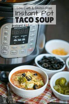 Instant Pot Low Carb Taco Soup - Gluten Free