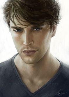 Tero facial/eyes/hair reference. #inspiration, #art, #character.   Art by http://adelenta.deviantart.com/.