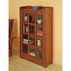 Arts and Crafts Bookcase Woodworking Plan from WOOD Magazine $14.95 downloadable plans $17.95 mail direct printed plans