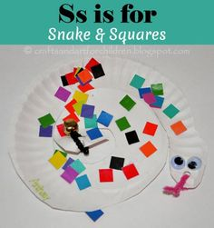 Paper Plate Snake {Preschool Letter Ss Craft}, Chinese New Year Craft