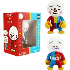 To-Fu Oyako 2.5 Inch Trexi Figure in red and blue