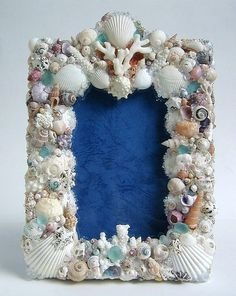 seashell frame by kobunecraft, via Flickr