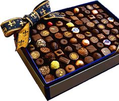 Debauve & Gallais - The finest chocolate bonbon assortment in Debauve & Gallais' official trademark blue, gray, and gold embossed box handmade exclusively for royalty before finally becoming available to the public in 1913.