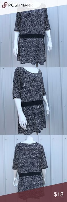 "Miss Tina by Tina Knowles Top Black and white Zebra print. Pull over, short sleeve, scoop neck top, stretch. Brand new without tag. 23"" chest, 31"" length. Miss Tina by Tina Knowles Tops"
