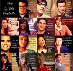 glee the most amazing show to watch it makes me a better person. Glee Memes, Glee Quotes, Movie Quotes, Best Tv Shows, Best Shows Ever, Favorite Tv Shows, Tauriel, Caroline Forbes, Thomas Brodie Sangster