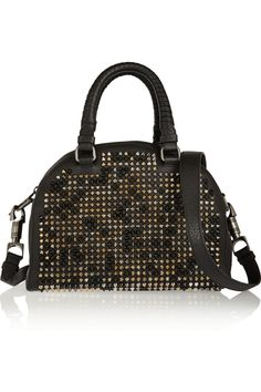 Christian Louboutin|Panettone small spiked leather tote|NET-A-PORTER.COM