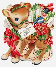 Christmas greetings to a very nice girl. #vintage #Christmas #cards #cute