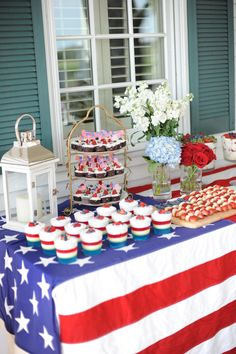 Get festive this Fourth of July with these patriotic decoration ideas! And get set for your Fourth of July party and celebrate in style! Memorial Day Desserts, 4th Of July Desserts, Fourth Of July Decor, 4th Of July Celebration, 4th Of July Decorations, 4th Of July Party, Patriotic Desserts, Memorial Day Decorations, Food Decorations