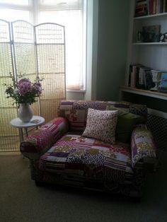 Patchwork snuggle chair xxx