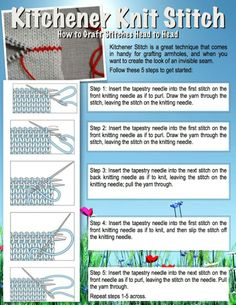 Knitting Term Kitchener Stitch : Knitting & Crochet Abbreviations http://www.sandywintersite.com Knit &a...