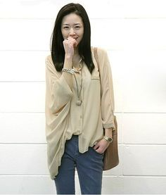 Irregular Lap Dolman Chiffon Blouse Apricot on Buytrends.com, only price $10.42