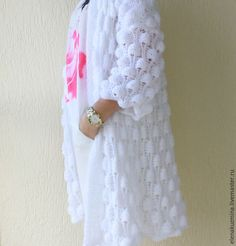 "Купить Кардиган "" Bubbles"" - белый, кардиган, вязаный кардиган, осень 2016… Hand Knitted Sweaters, Boys Sweaters, Knitwear Fashion, Knit Fashion, Crochet Cardigan, Knit Crochet, Knitting Patterns, Crochet Patterns, Macrame Wall Hanging Patterns"
