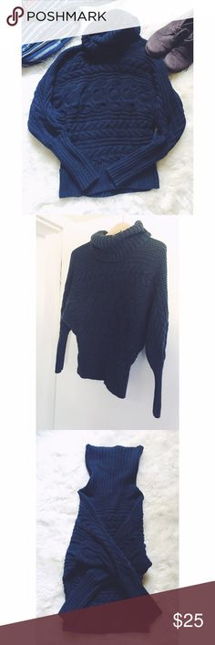 """Moda International Chunky Turtleneck Sweater You just need a mug of hot chai and some cute ankle booties to complete this fall ensemble! Warm, cozy with a cut that causes an """"oversize"""" feel. High quality and heavy material. Gently used. Great condition. As sold in Victoria's Secret. Moda International Sweaters Cowl & Turtlenecks"""