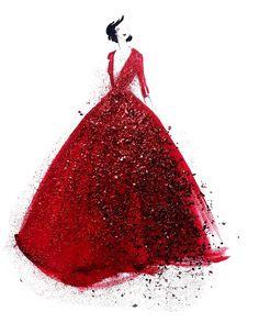 #fashion #illustration #sketch #design #glitter