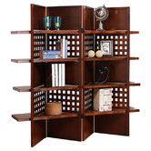 "Found it at Wayfair - 58"" x 69"" Shenandoah 4 Panel Shelf Room Divider"