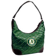 Oakland Athletics MLB Quilted Hobo (Dark Green)