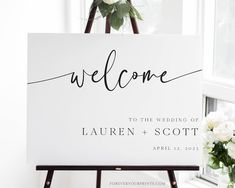 Wedding Welcome Sign Template Wedding Signage Wedding Decor | Etsy