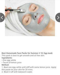 Egg mask for summer