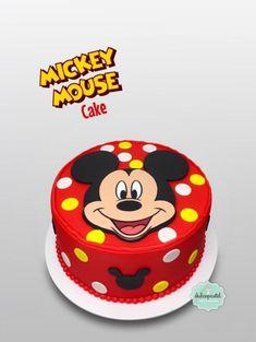Torta de Mickey Mouse Cake - cake by Giovanna Carrillo - CakesDecor Mickie Mouse Cake, Mickey Mouse Smash Cakes, Mickey Mouse Clubhouse Cake, Mickey Cakes, Pastel Mickey Mouse Niño, Fiesta Mickey Mouse, Mickey Mouse Parties, Disney Parties, Minnie Mouse