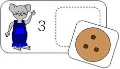 Number digit match cards for If You Give a Mouse a Cookie.