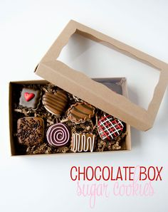 Box Of Chocolate Sugar Cookies by The Cookie Fairy