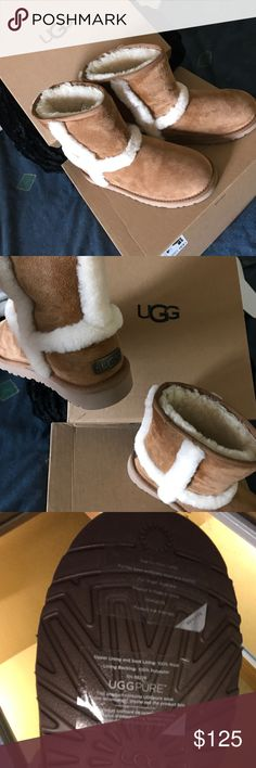 Authentic water resistant UGG BOOTS •size 4 •never worn •color :chestnut style : K HADLEY WATER RESISTANT UGG Shoes Winter & Rain Boots