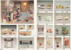 Lundby 1984: p 06-07 Vintage Dollhouse, Diy Dollhouse, Dollhouse Miniatures, Miniature Furniture, Dollhouse Furniture, Diy Furniture Accessories, Dainty Doll, Garage Extension, Horror House