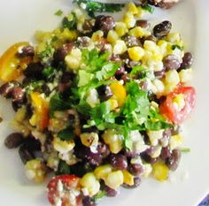 21 Day Fix Food: Grilled Corn and Black Bean Salad