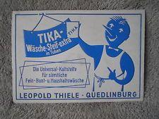 DDR Reklame-Schild 50/60er Jahre Drogerie TIKA Wäsche-Steif L.Thiele Quedlinburg
