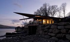Sea House in Scotland inspired by James Bond