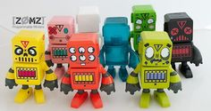 """Dynomight NYC presents """"Z0MZ"""" WAVE 1. These amusing looking robots (4inch) will be available on 16th Jan for just $35. One of these could be an excellent first purchase for 2013 - but be quick as there will only be 35 pieces per design!"""