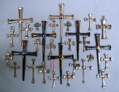 Crosses from Horseshoe Nails, by L. Webb   These small cross…   Flickr
