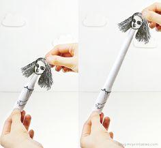 DIY telescopic paper toys on Mr P blog