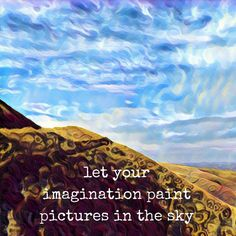 Day 23 of 31 days of inspirational actions 🌸 #selflove #inspiration #lookupatthesky #cloudpainting #imaginationarts #clouds #mentalhealththerapy