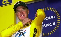 Australian Stuart O'Grady pulled on the maillot jaune in the 2001 Tour after a breakaway