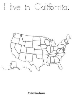 Add your own text North America coloring pages.  Use for CIA to identify states where missionaries live. by carlani