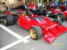 Ferrari 312B3 Spazzaneve. Modèle de développement pour la saison 1973. Ici en exhibition. Au fond une Ferrari 126C4.