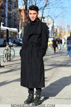 On the street in a DAMIR DOMA Men's Autumn Winter 2011-12 coat