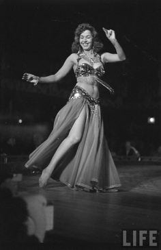 Belly Dance Classics <<>> A photograph of Samia Gamal from LIFE Magazine. Photography by: Loomis Dean, March 1952.