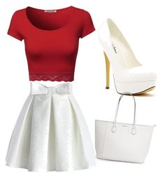 """""""Canada day outfit"""" by rikki622 ❤ liked on Polyvore featuring Chicwish and Michael Antonio"""