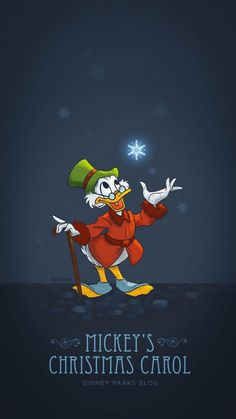 'Mickey's Christmas Carol' Inspired 2018 Holiday Wallpaper – iPhone/Android