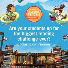 Starting April 6th, teachers can register their students for the Scholastic Summer Reading Challenge! Join today and discover free classroom resources and a classroom library sweepstakes. #summerreading
