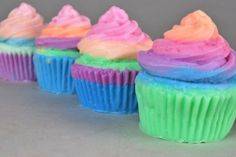 Rainbow Sherbet Cupcake soap