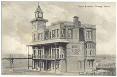 Hotel Kynoch 1900 - View from the East on the Sea Wall, Canvey Island Leigh On Sea, Victorian Photos, London Places, A Level Art, Under The Sea, New Pictures, Old Photos, Paths, Island