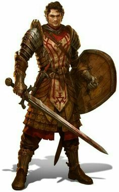 Human Fighter Warrior - Pathfinder...