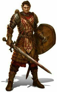 Human Fighter Warrior - Pathfinder...