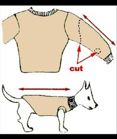 DIY doggie sweater!!!!!