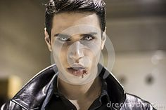 Young Vampire Man Face With Blood On His Mouth - Download From Over 37 Million High Quality Stock Photos, Images, Vectors. Sign up for FREE today. Image: 60163538