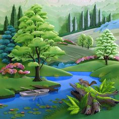 Art Paper Summer by the River ~ Hideharu Naitoh